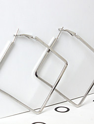 Boucles d'oreille goutte Alliage Géométrique Mode Formé Carrée Or Argent Bijoux Quotidien 1 paire