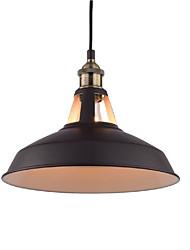 max 60w vintage pendelleuchten 1-light metall wohnzimmer esszimmer flur beleuchtung