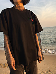 Sign Korea Hong Kong tide brand Harajuku style Korean short-sleeved t-shirt trend of men and women students