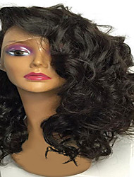 cheap -Human Hair Lace Front Wig / Glueless Lace Front Wig Body Wave 130% Density Natural Hairline / African American Wig / 100% Hand Tied Women's Short / Medium Length / Long Human Hair Lace Wig
