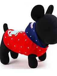 preiswerte -Hund T-shirt Hundekleidung Niedlich Lässig/Alltäglich Solide Rot Blau Kostüm Für Haustiere