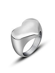 ieftine -Pentru cupluri Inel Stil Punk Oțel titan Heart Shape Bijuterii Pentru Zilnic