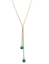 cheap -Women's Pendant Necklace Y-Necklace  -  Dangling Style Multi-ways Wear Gold Silver Necklace For Wedding Party Special Occasion