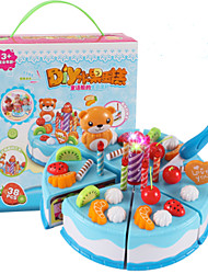 cheap -Toy Kitchen Sets Toy Food / Play Food Pretend Play Toy Circular Cake & Cookie Cutters Dessert Cake Fruit Simulation PVC Girls' Boys' Kid's
