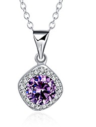 Necklace AAA Cubic Zirconia Pendant Necklaces Chain Necklaces Jewelry Birthday Daily Casual Christmas Gifts HeartBasic Design Unique