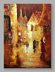 IARTS Hand Painted Modern Abstract Landscape Painting The Street at Night Wall Art For Home Decor