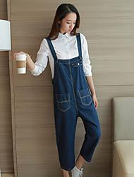 firmare il jeans proprietario consigliato stile marinaresco bretelle collant allentata femminile pantaloni sottili crollo
