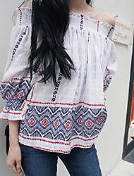 Korea purchasing official website authentic spot straight hair LOBHIP bare shoulders elastic cotton Sleeve Shirt
