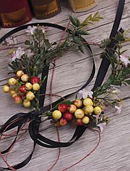 billige -basketwork lin stof hovedbånd kranse hovedstykke elegant stil