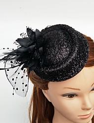 cheap -Tulle Feather Fascinators Hats Birdcage Veils Headpiece