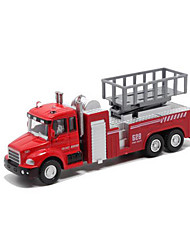 cheap -Toy Cars Fire Engine Vehicle Toys Pull Back Vehicles Music & Light Metal Alloy Plastic Metal Pieces Children's Kids Gift