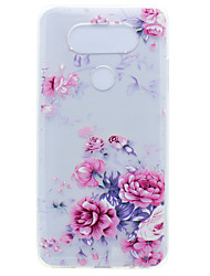 cheap -Case For LG K8 LG LG Nexus 5X LG K10 LG K7 Transparent Pattern Back Cover Flower Soft TPU for LG X Power LG V20 LG G6