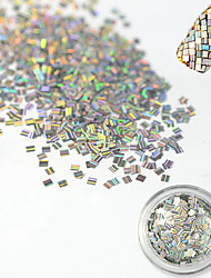 cheap -1 Bottle Fashion Rectangle Laser Glitter Stripe Paillette Decoration Nail DIY Beauty Decoration Nail Glitter Paillette Shiny Thin Slice TW17