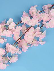 Недорогие -1 Филиал Шелк Искусственные Цветы 100