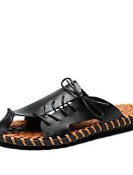 baratos -Homens Sapatos Pele Primavera Verão Outono Conforto Sandálias Tênis Anfíbio para Casual Escritório e Carreira Ao ar livre Social Branco