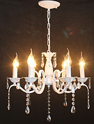 cheap -Chandelier Modern Crystal Mini Candle Style Iron Lamp Restaurant Study / Office Children's Room Lamps