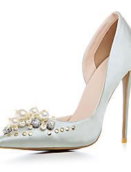 cheap -Women's Heels Spring Summer Fall Winter Club Shoes Satin Customized Materials Wedding Party & Evening Dress Stiletto HeelImitation Pearl