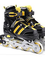Kid's Inline Skates Adjustable Yellow