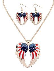 abordables -Mujer Conjunto de joyas - Forma de Hoja Lujo, Diseño Único, Colgante Incluir Dorado / Plata Para Aniversario / Cumpleaños / Regalo