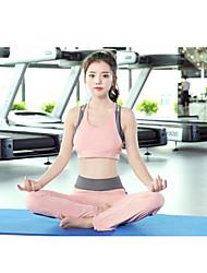 Damen Sport-BH mit Laufhose Atmungsaktiv für Übung & Fitness Laufen Chinlon Schwarz Rosa + Red S M L XL XXL