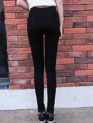 Women's Mid Rise Stretchy Skinny Pants,Solid Color Pencil Pure Color Slim Solid Color Sexy