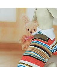 preiswerte -Hund T-shirt Hundekleidung Niedlich Lässig/Alltäglich Streifen Regenbogen Kostüm Für Haustiere