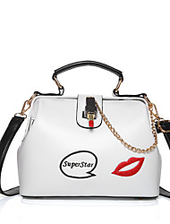 Women Bags All Seasons PU Satchel for Wedding Event/Party Casual Formal Outdoor Office & Career Professioanl Use White Black Blushing
