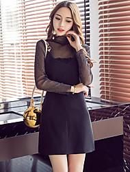 знак 2017 весной новый европейские и американских перспективных мод сексуальных кружев блузки ремня ремень юбка костюма