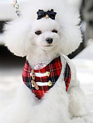 Недорогие -Собака Ремни Дышащий Безопасность Однотонный Ткань Красный
