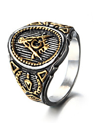 cheap -Men's Ring Statement Ring Gold Black Titanium Steel Others Personalized Euramerican Hip-Hop Fashion Rock Punk Christmas Gifts Party