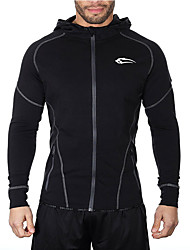 cheap -Men's Running Jacket Breathable for Exercise & Fitness Running Black Gray M L XL XXL