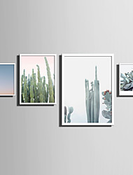 cheap -E-HOME® Framed Canvas Art   Simple Natural Scenery And Plant Series (6) Theme Series Framed Canvas Print One Pcs