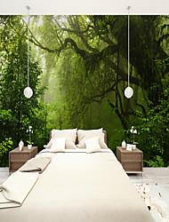 Недорогие -фреска холст Облицовка стен - Клей требуется Деревья / Листья 3D