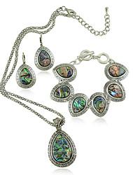 Per donna Girocolli Collane con ciondolo Conchiglie Lega Pendente Vintage Personalizzato Euramerican Arcobaleno Gioielli PerMatrimonio