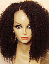 Cheap 130% Density Afo Kinky Curly Glueless Full Lace Human Hair Wigs with Baby Hair Natural Color Brazilian Kinky Curly Virgin Hair Natural Hairline