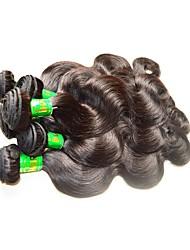 Недорогие -Натуральные волосы Пряди натуральных волос Реми Естественные кудри Индийские волосы 1000 g 1 год