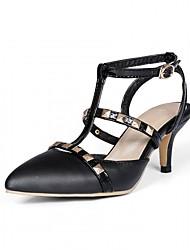 abordables -Femme Chaussures Polyuréthane Similicuir Printemps Eté Nouveauté Confort Sandales Marche Talon Aiguille Bout pointu Rivet pour Mariage