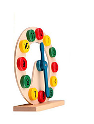 cheap -Wooden Clock Toy Toys Circular Education Wood Children's Pieces