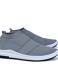 Men's Loafers & Slip-Ons Comfort Light Soles Summer Fall Knit Fabric Casual Black Gray 1in-1 3/4in