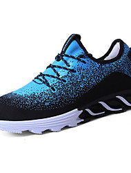 cheap -Men's Fabric Spring / Fall Comfort Athletic Shoes Walking Shoes White / Black / Blue
