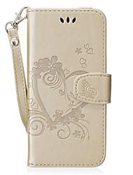 Недорогие -Кейс для Назначение SSamsung Galaxy S8 Plus S8 Бумажник для карт Кошелек со стендом Флип С узором Чехол С сердцем Твердый Искусственная