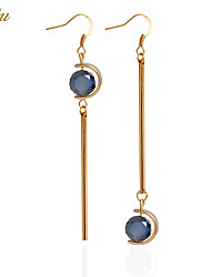 cheap -Women's Crystal Drop Earrings / Earrings - Zircon Ball Personalized, Luxury, Basic Light Blue For Christmas Gifts / Wedding / Party / Special Occasion / Anniversary / Birthday / Housewarming