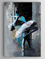 Hand-Painted  Impression Dancer Oil Painting With Stretcher For Home Decoration Ready to Hang
