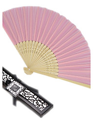 cheap -Debutante Ball Pink Silk Hand Fan in Black Box Ladies Night Out Essentials Beter Gifts® Life Style