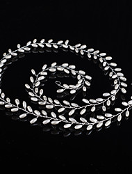 Length 80cm Handmade Pearl Headpiece-Wedding Special Occasion Outdoor Headbands Head Chain Hair Tool 1 Piece for Wedding Bride Wedding Belt Decoration