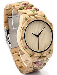 Herre Modeur Armbåndsur Unik Creative Watch Casual Ur Ur Træ Japansk Quartz Japansk Quartz Af Træ Træ BåndVintage Sej Afslappet Kreativ