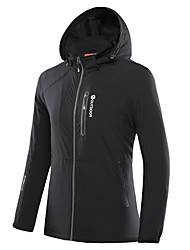 cheap -LEIBINDI Men's Hiking Softshell Jacket Outdoor Waterproof Quick Dry Windproof Dust Proof Breathable Lightweight Jacket Top Double Sliders