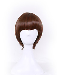 cheap -Europe and the United States Selling Mushrooms Head Buckle Wig wave Head Hair Network 10inch