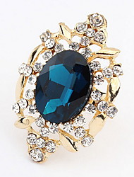 Mulheres Anéis Grossos Anel Imitação de Diamante Básico Original Com Logotipo Estilo Punk Adorável Personalizado Hip-Hop Rock Estilo