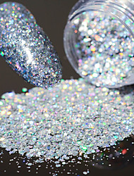 cheap -laser Hexagonal Glitter Tablets Nail Art Decorations 3g